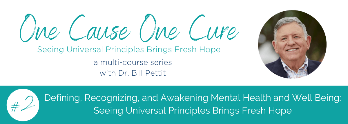 One Cause One Cure Dr. Bill Pettit
